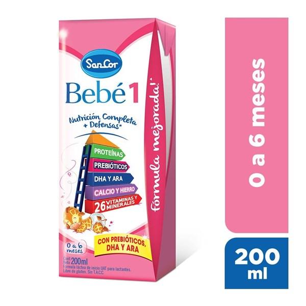 Sancor Bebé Leche Infantil Líquida Etapa 1, 200 ml