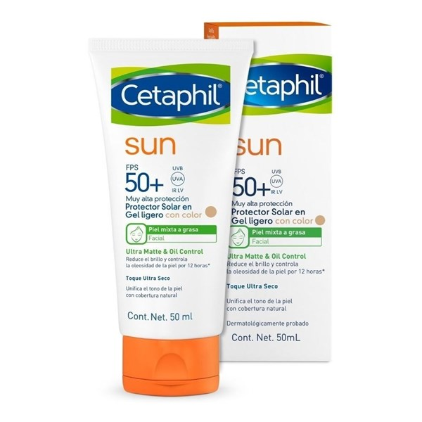 Cetaphil Sun x50ml Spf 50 Gel Ligero Color