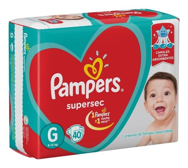 PL PAMPERS SUPERSEC HIPER GDE x 40 U