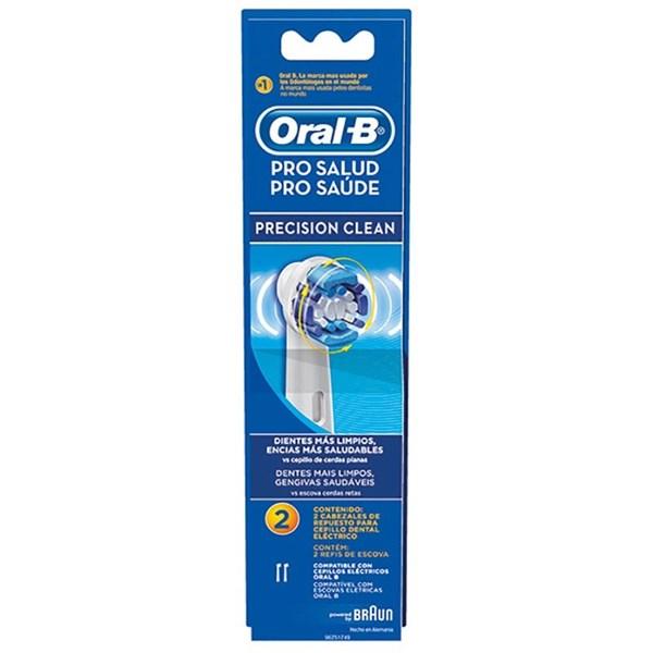Oral-B Cabezales De Repuesto Cepillo Eléctrico Dental Pro-Salud CrossAction 2 Unidades