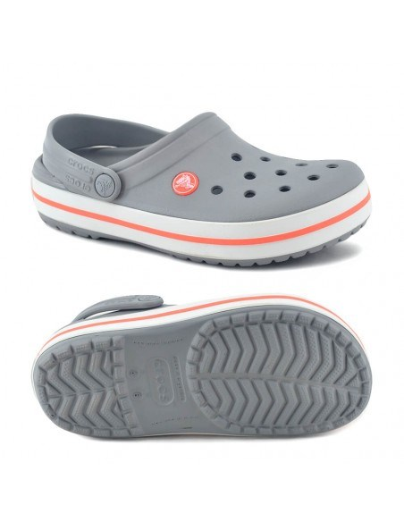 Crocs Band Light Grey Coral Nº 36