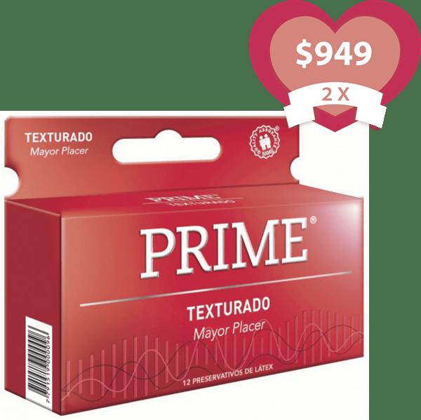 Combo 2X Preservativos Prime Texturado X 12 Unidades