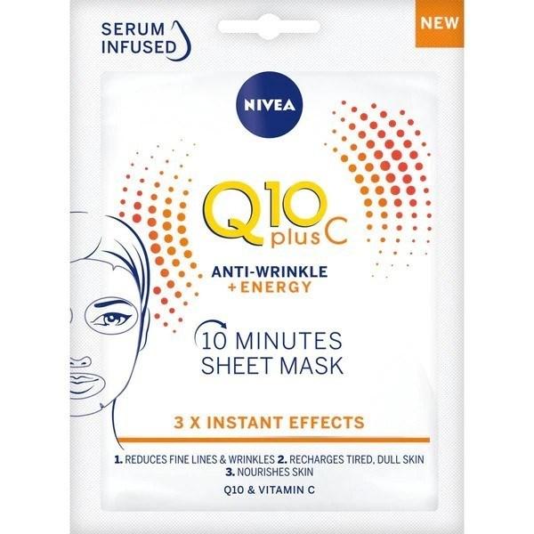 Nivea Mascarilla Facial Q10 + Anti Age x1 Unidad