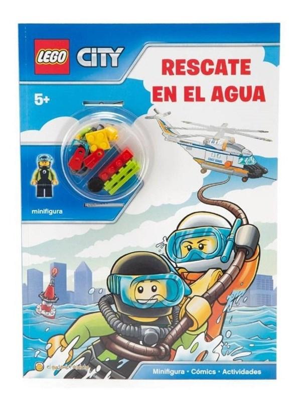 Lego City Libro Rescate En El Agua