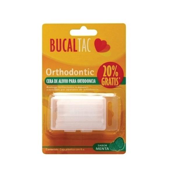 BUCAL TAC Cera para Ortodoncia Sabor Menta x 6 Un Con VIT E