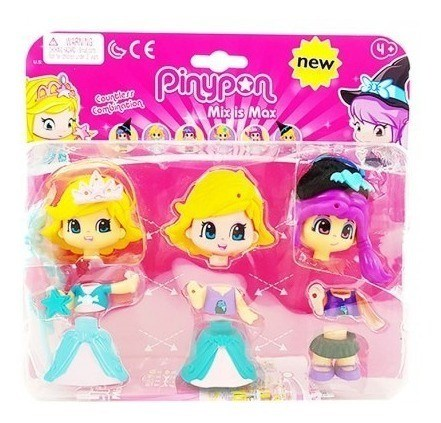 Figuras Pinypon Bruja Y Princesa Con Accesorios x2