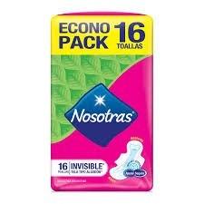 Nosotras Toallitas Natural Invisible x16