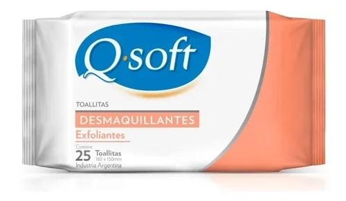 Q Soft Toallitas Desmaquillantes Exfoliantes 25 Unidades