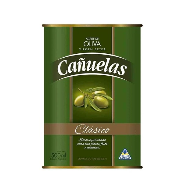 Aceite De Oliva Cañuelas Lata X 500 Cc