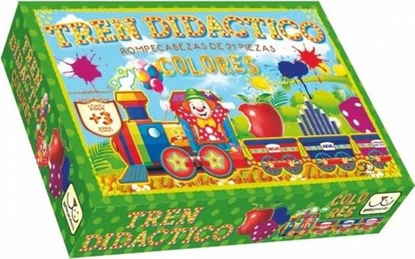 Puzzle Tren Didactico Colores
