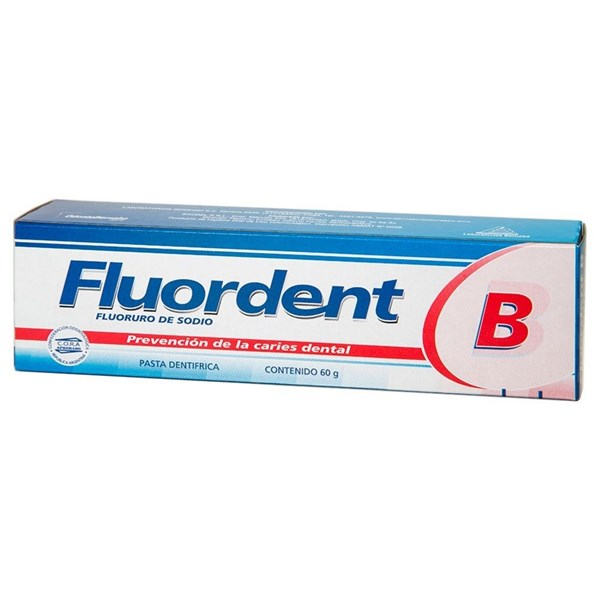 Pasta Dental Fluordent B X 60 Gramos