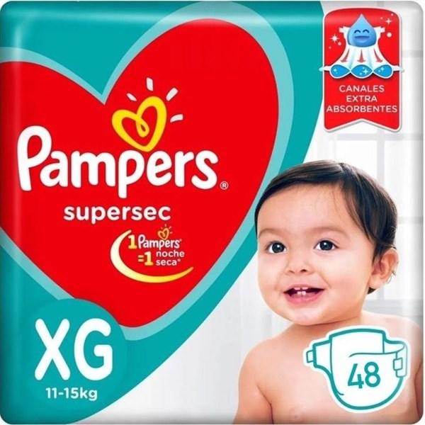 Pampers Confort Sec Tamaño Extra Grande Pack X 48 Pañales