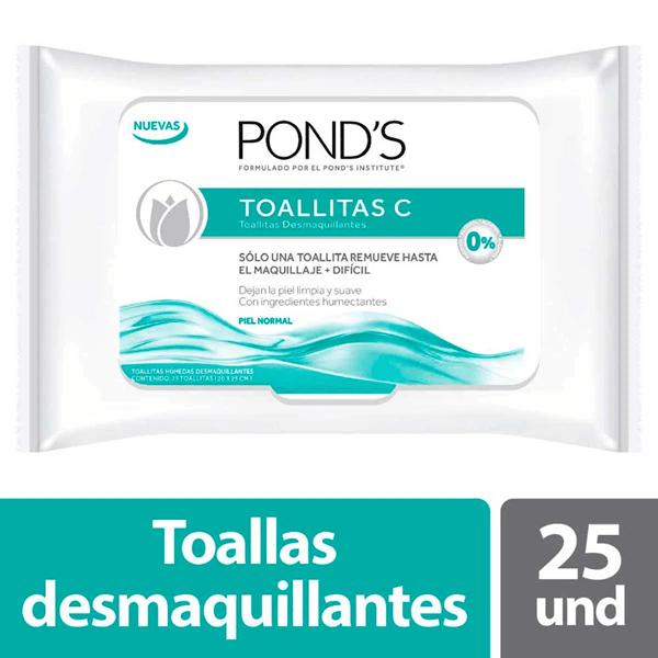 Ponds Toallitas Desmaquillantes x25un Original