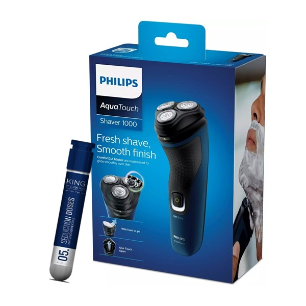 Afeitadora Philips Aqua Touch Modelo Serie 1000 + Regalo Perfume Antonio Banderas x 30 ml