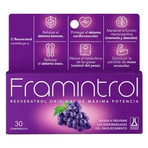 Suplemento Dietario Framintrol Resveratrol 60 Comprimidos