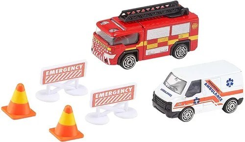 Team Rescue Camión Bombero + Ambulancia + Accesorios alt