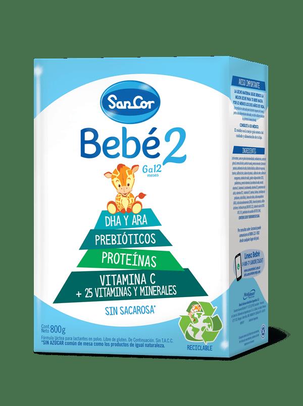 Leche Infantil Polvo Sancor Bebé Etapa 2 X 800 Gr