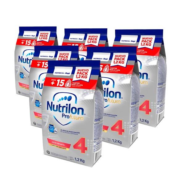 Leche De Fórmula En Polvo Nutricia Bagó Nutrilon Pouch Profutura 4 X 1,2 Kg