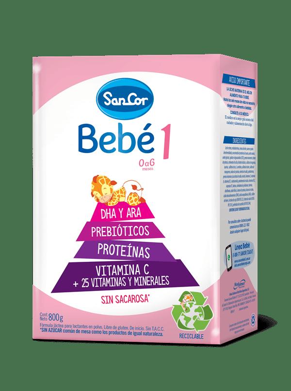 Leche Infantil Polvo Sancor Bebé Etapa 1 X 800 Gr
