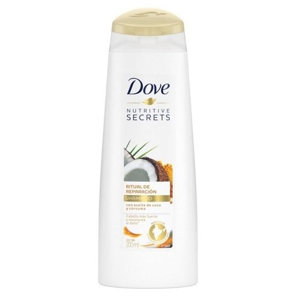 Dove Shampoo Ritual Reparación Coco & Curcuma 200ml