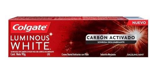 Crema Dental Colgate Luminous White Carbon Active x 90 gr
