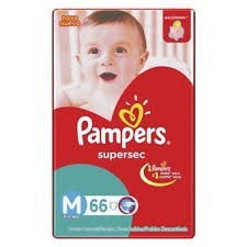 Pampers Supersec Super-Hiper Pack M x66
