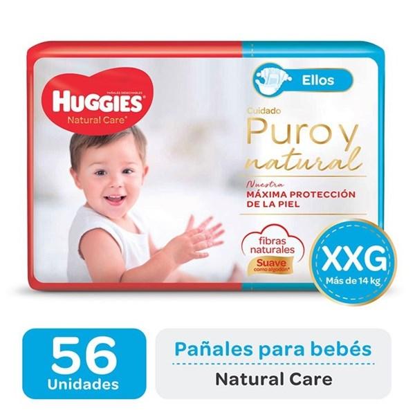 Huggies Pañal Natural Care Ellos XXG x 56