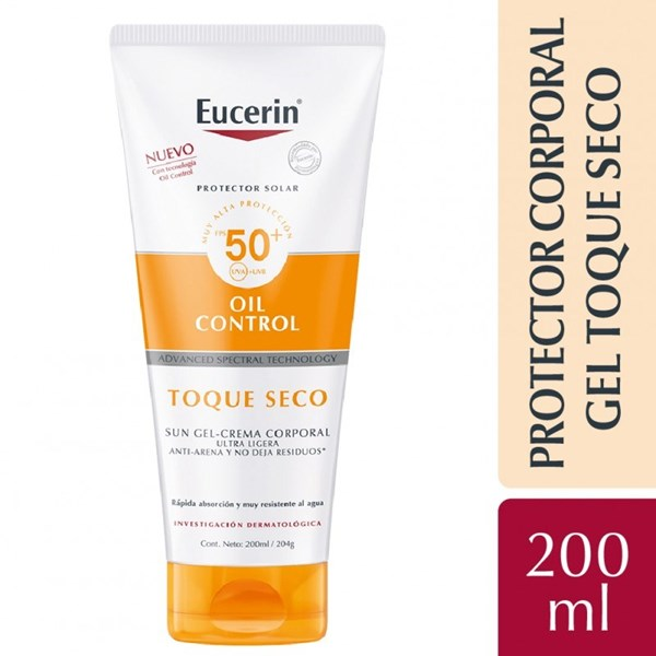 Eucerin Sun Body Gel-Cream Toque Seco FPS 50+ 200 Ml