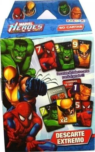 Juego Cartas Héroes Marvel Descarte Extremo
