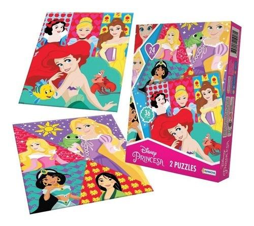 Puzzle Disney Princesas x2 Unidades