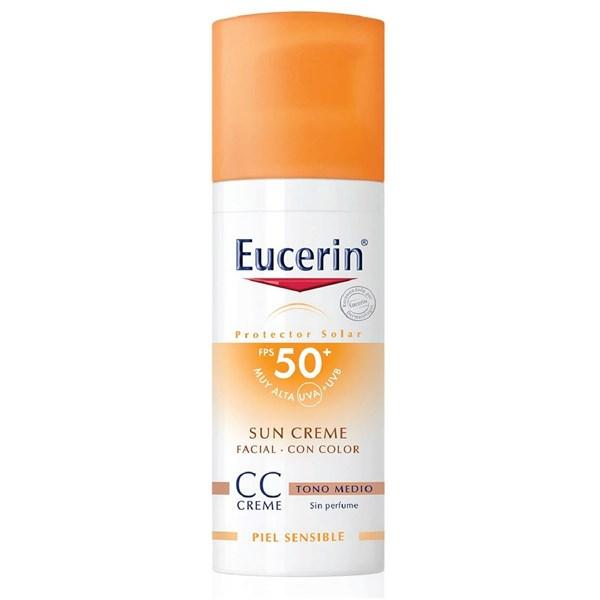 Eucerin Fotoprotector Facial Color Tono Medio FPS 50 50ml