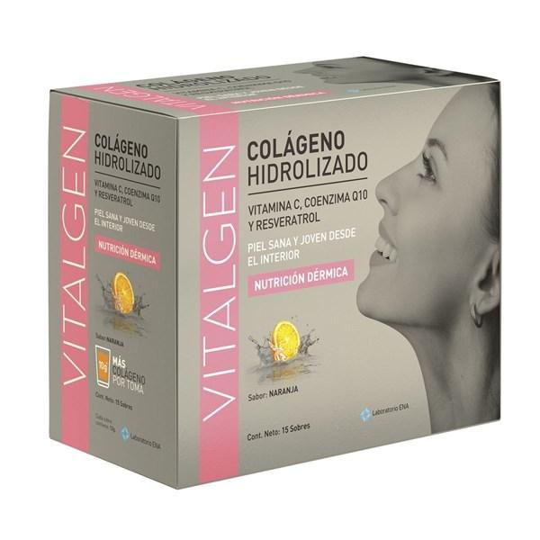 Vitalgen Colageno Hidrolizado Naranja Sob.X 15 X 12 G