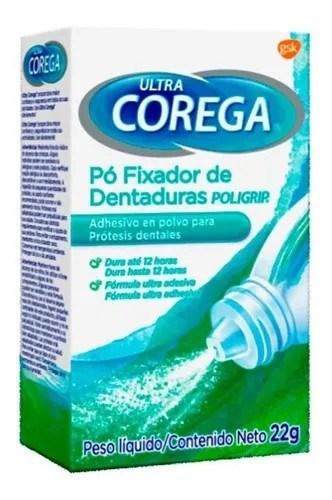 Ultra Corega Adhesivo Para Prótesis Dentales Polvo 22gr