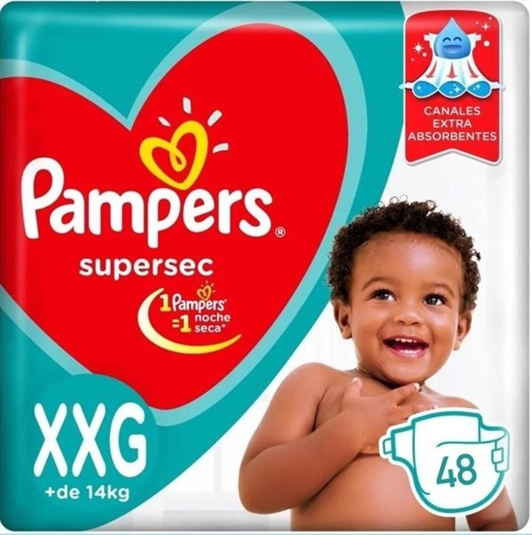 Pampers Confort Sec Tamaño Extra Extra Grande Pack X 48 Pañales