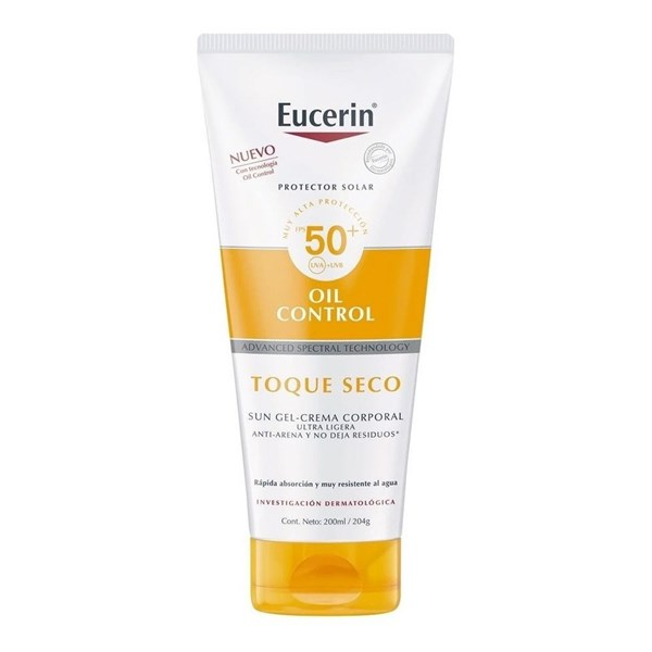 Eucerin Sun Protector Solar Gel Crema Toque Seco FPS 50 200ml
