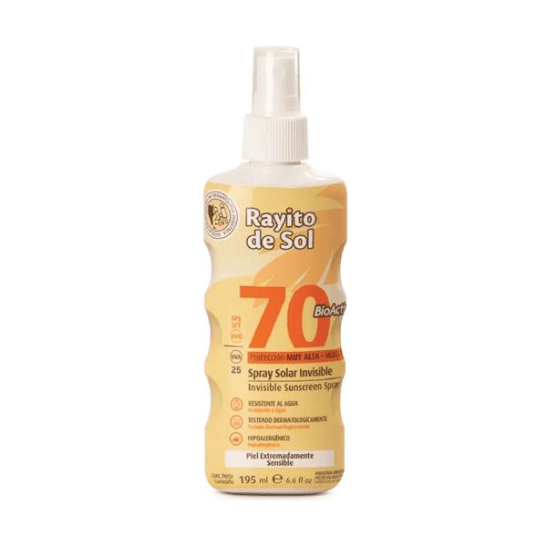 Rayito de Sol Protector Solar Spray Invisible FPS70 195ml