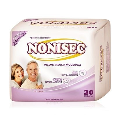 Nonisec Toallitas Para Incontinencia Moderada x20 Unidades