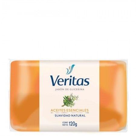 Jabón Veritas Glicerina Aceite Esencial X 120 Gr