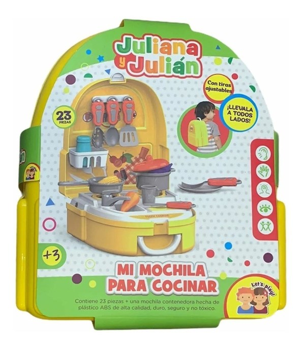 Juliana y Julián Mi Mochila Para Cocinar alt