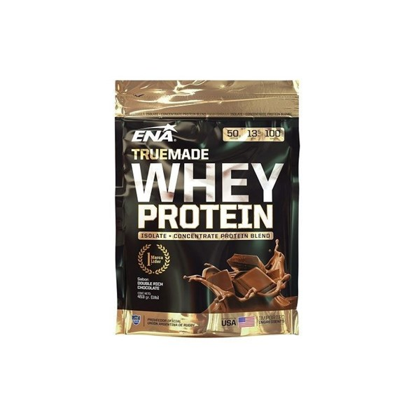 Suplementos ENA Proteina True Made Whey Protein Double Rich Chocolate 453g