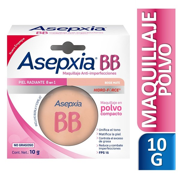 Asepxia Maquillaje Antiacnil Beige Mate Polvo