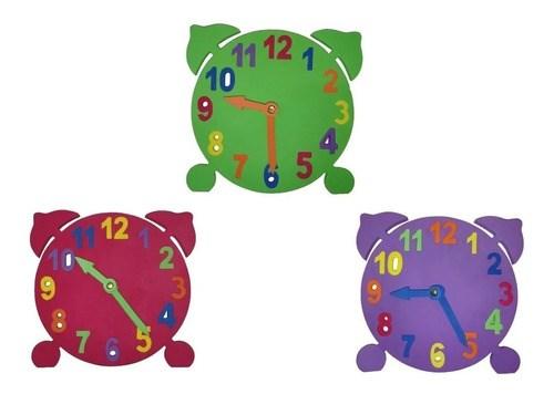 Reloj Puzzle Didáctico Chico De Goma Eva