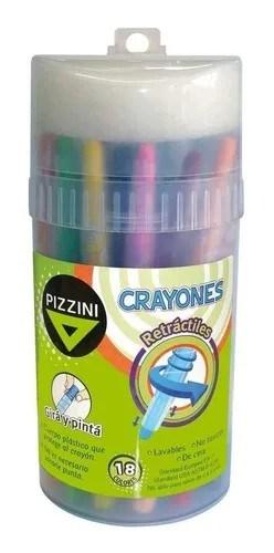 Pizzini Crayones Retráctiles 18 Unidades