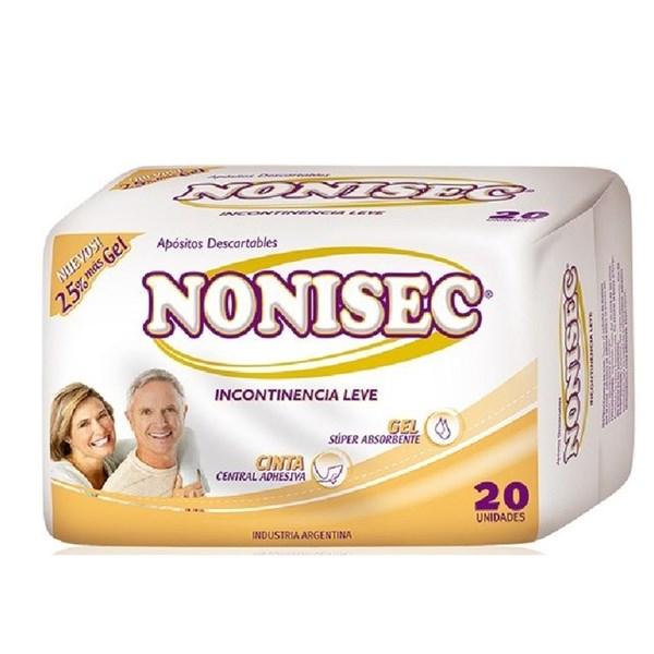 Nonisec Toallitas Para Incontinencia Leve 20 Unidades