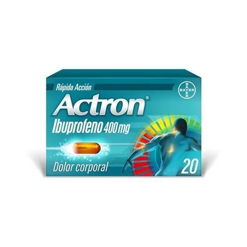 Bayer - Actron 400 Mg (20 Capsulas Blandas)