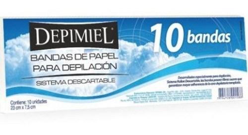 Depimiel, bandas de papel para retirar cera 10 un