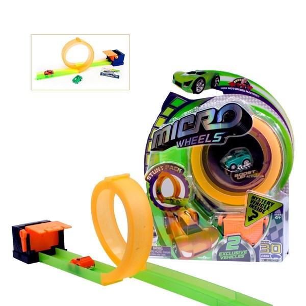 Autito Con Pista Juguete Micro Wheels
