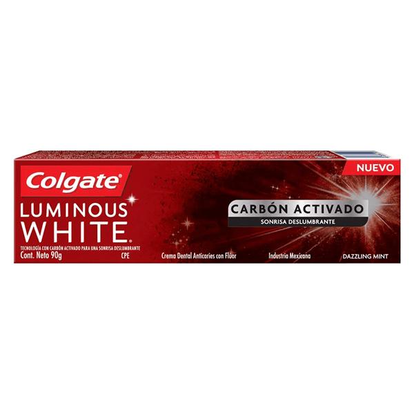 Crema Dental Colgate Luminous White Carbon Act X 90 Gr