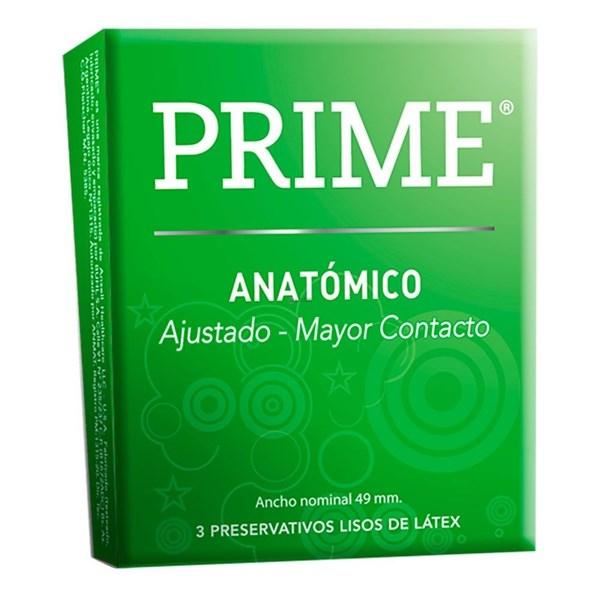 Preservativos Prime Anatomico X 3 Unidades