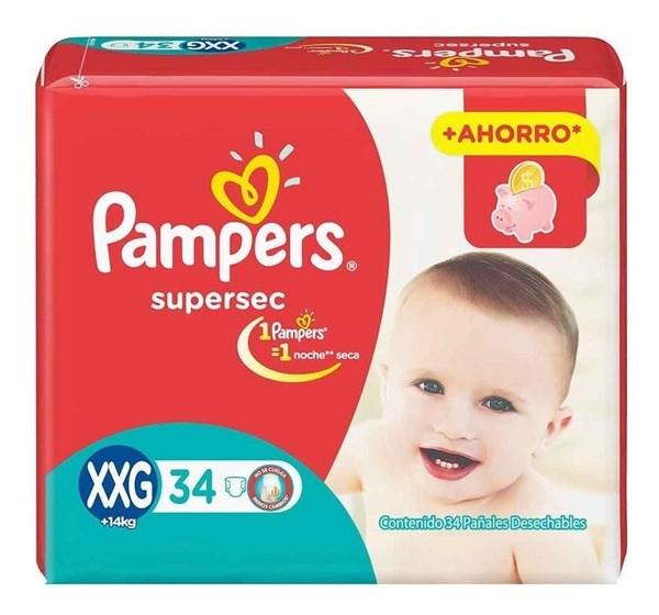 PL PAMPERS SUPERSEC HIPER.XXG x 34 U